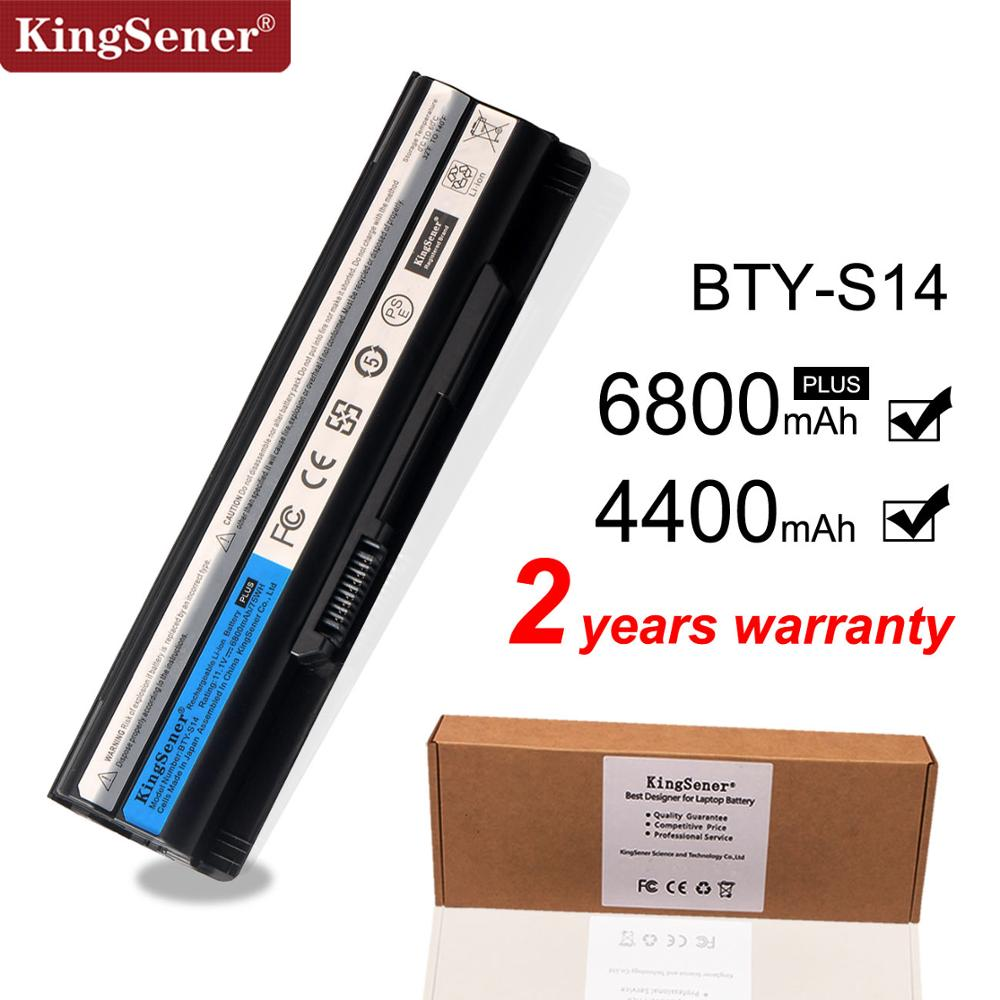 KingSener New BTY-S14 Laptop Battery For MSI Laptop Battery GE70 GE60 FX720 GE620 GE620DX GE70 A6500 CR41 CR61 FR720 CX70 FX700