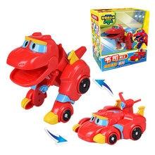 Newest Min Gogo Dino ABS Deformation Car/Airplane Action Figures REX/PING/VIKI/TOMO Transformation Dinosaur toys for Kids Gift