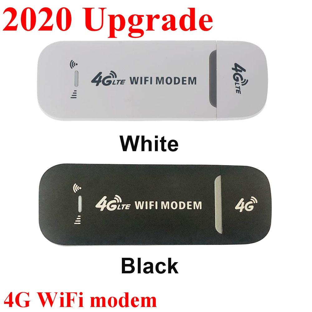 2020 4G LTE USB Modem Network Adapter With WiFi Hotspot SIM Card 4G Wireless Router For Win XP Vista 7 10 Mac 10 4 IOS fast ship
