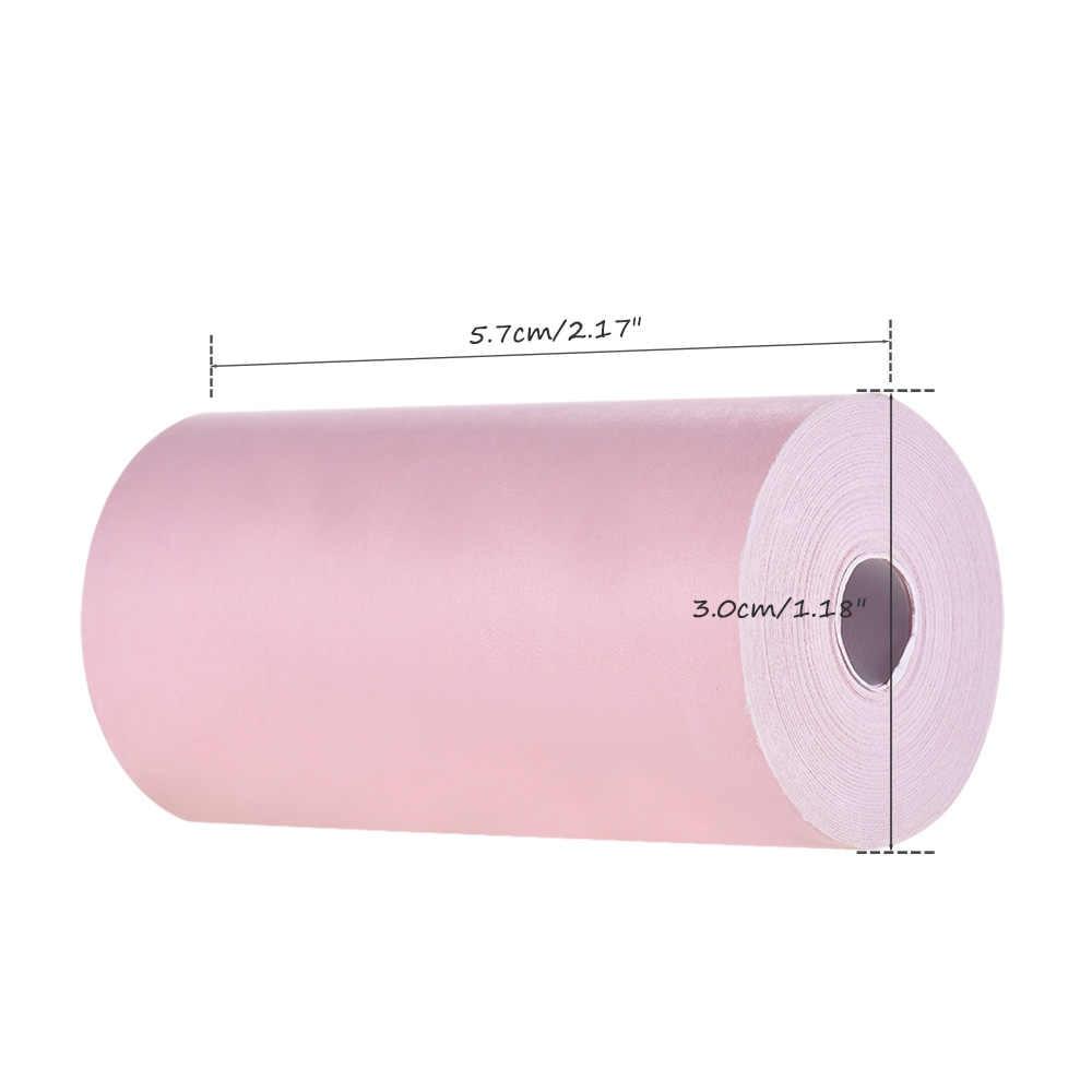 Carta Termica di colore 3 Rotolo di 57*30mm (2.17 * 1.18in) disegno di legge Ricevuta Foto di Carta di Stampa Chiari per A6 Tasca per Mini Stampante Fotografica