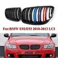 Для BMW E92 E93 3-Series 2 дверцы 2010 2011 2012 2013 2014  автомобильная Передняя ножевая решетка  грили для замены бампера  решетка  автомобильный глянцевый че...