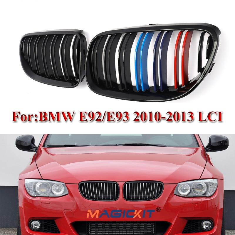 Für BMW E92 E93 3-Serie 2 Tür 2010 2011 2012 2013 2014 Auto Front Niere Grille Grills ersatz stoßstange Grille Auto Glanz Schwarz