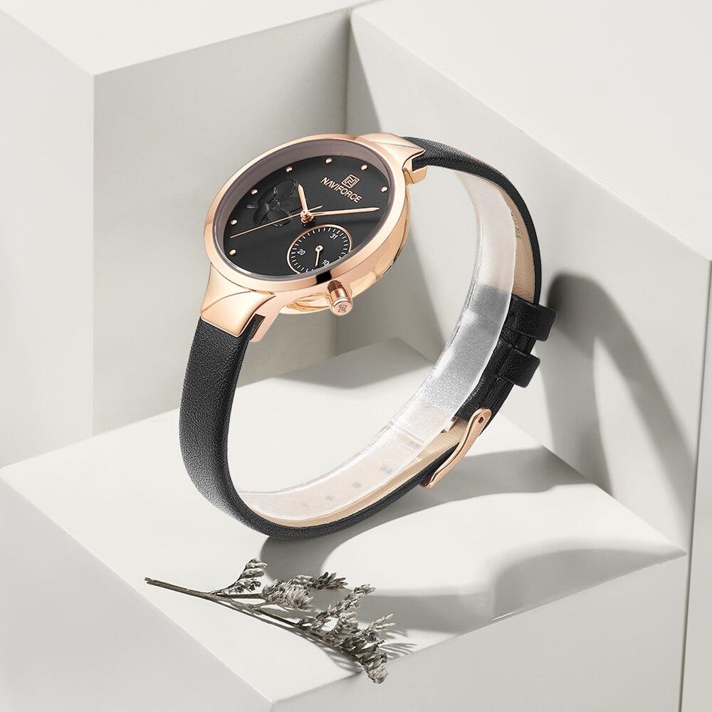 Image 3 - NAVIFORCE Women Watches Luxury Brand Fashion Quartz Ladies Rhinestone Watch Dress Waterproof Watch Simple Clock Relogio FemininoWomens Watches   -