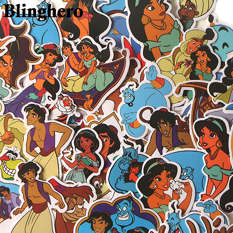 39pcs/set  The Magic Lamp Mixed  Sticker Pack For Laptop Home Decoration Decals DIY Scrapbooking Album Sticker CA447