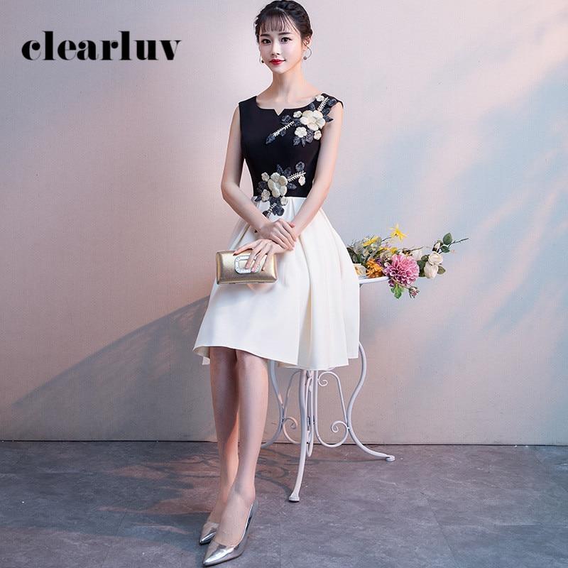 Black Prom Dress R260 Sexy Sleeveless Elegant Women Party Dresses Tank Knee-Length Formal Dress O-Neck Vestidos De Fiesta 2020