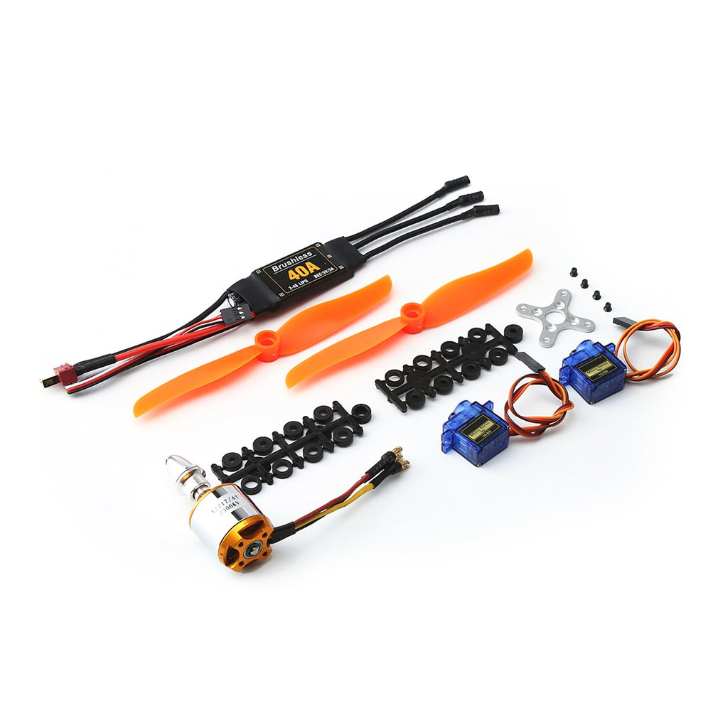 2019 NEW 2217 2300KV Brushless Motor 40A ESC SG90 9G Micro Servo <font><b>6035</b></font> <font><b>Propeller</b></font> RC Drone Set for RC Fixed Wing Plane Helicopter image