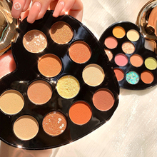 NOVO Heart 12Color Beauty Glazed Professional Soft Glam Matte Eyeshadow Glitter