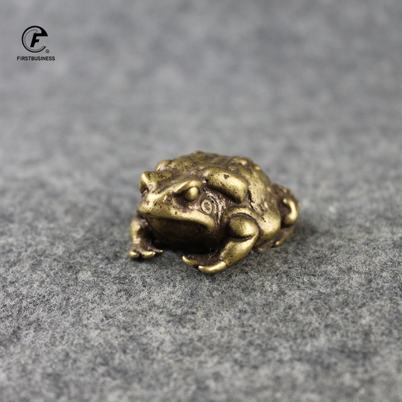 Lucky Rich copper toads frog Golden toad Animal solid copper Statue Animal mascot Decor Home Pure
