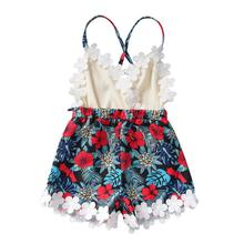 Baby Girl Clothes Summer Newborn Sleeveless Lace Flower Print Strap Romper Jumpsuit One-Piece Outfit Summer Clothes emmababy summer newborn baby girl clothes sleeveless striped bowknot strap romper jumpsuit one piece outfit sunsuit clothes