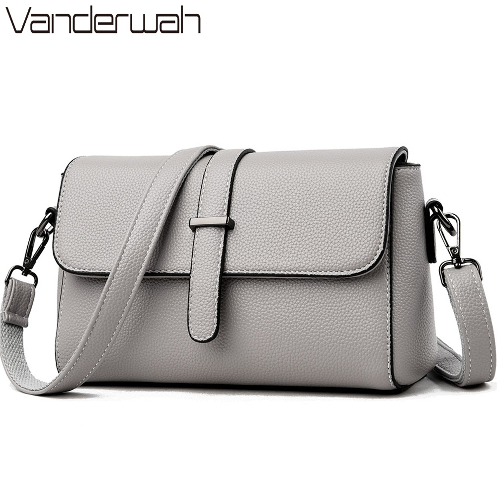 Casual Soft Leather Leather Luxury Handbags Women Crossbody Messenger Shoulder Bag Small Flap Bags For Women 2019 Bolsa Feminina