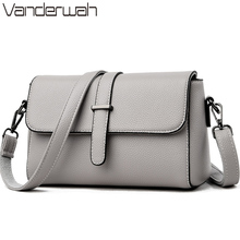Casual Soft Leather Leather Luxury Handbags Women Crossbody Messenger Shoulder Bag Small Flap Bags for Women 2019 Bolsa Feminina