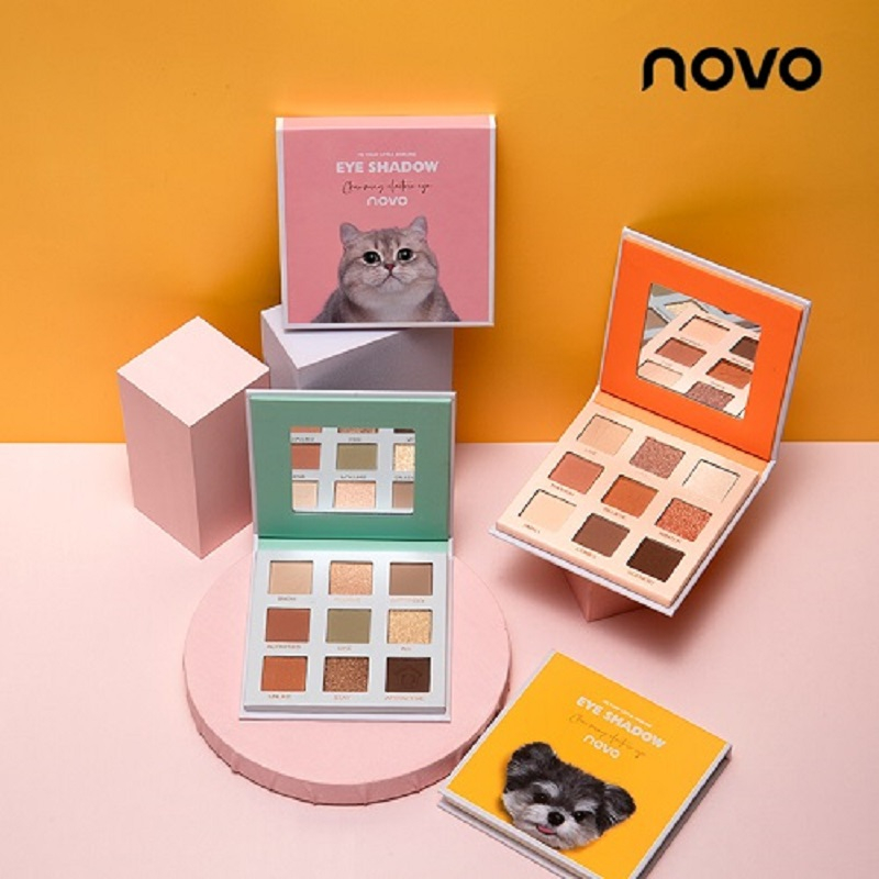 Novo 9 cores sombra de olho diário explorador sombra natural animal gato leopardo gato filhote de cachorro sombra paleta brilho cosméticos tslm1