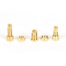 Novo banhado a ouro cobre mmcx fêmea jack conector de fio de solda pcb montagem pino ie800 diy adaptador de tomada de áudio