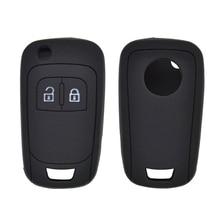 Silicone For Opel Astra Corsa Zafira Mokka Remote Fob Car Key Cover Case 2 Button