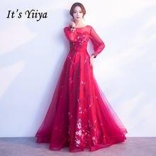 Женское вечернее платье it's yiiya r245 элегантное бордовое