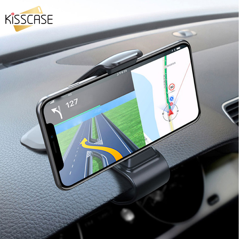 KISSCASE Dashboar Car Phone Holder Stand For Huawei P20 Lite Universal GPS Navigation Phone Holder For IPhone 7 XR XS For Xiaomi