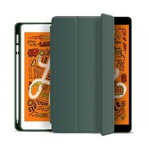Чехол для iPad 10,2 2019 2018 2017 9,7 мини 5 Pro 10,5 Air 3 Smart Cover с карандашом держатель для iPad 8th 7th 6th 5th Generation