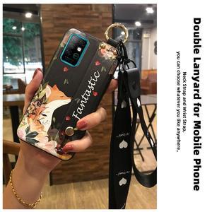 Image 4 - Phone Holder Soft Case Phone Case For Infinix X692/Note8 Wrist Strap Original Wristband Lanyard