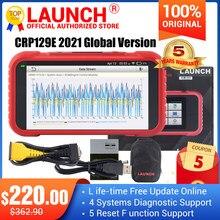 Launch – X431 CRP129E Scanner de Diagnostic complet, lecteur de Code OBD2, ENG, ABS, SRS, AT, huile/frein/SAS/TMPS/ETS, réinitialisation, Creader 129E