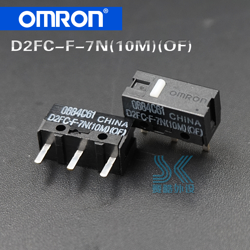 OMRON Mouse Micro Switch D2FC-F-7N(10M)(OF) Button Suitable For 20M 50M Steelseries Sensei310 Logitech G102 GPRO G302 Mouse 2pcs