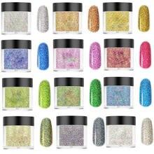 10 мл/коробка порошок для ногтевого дизайна 24 цвета смешанный