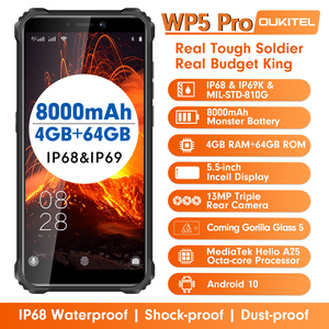 Image 5 - IP68 Waterproof 4GB 64GB Mobile Phone OUKITEL WP5 Pro Smartphone 8000mAh Triple Camera Face/Fingerprint ID 5.5 inches Android 10
