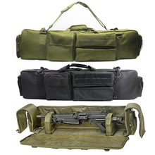 100CmMilitaryปืนกระเป๋าเป้สะพายหลังปืนไรเฟิลคู่กระเป๋าสำหรับSAW M249 M4A1 M16 AR15 Airsoft Carbineกระเป๋าถือสายคล้องไหล่