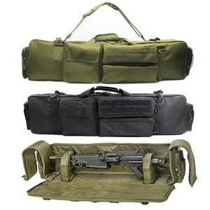 Image 1 - 100cm 군사 총 가방 배낭 더블 소총 가방 케이스 톱 M249 M4A1 M16 AR15 Airsoft 카빈 운반 가방 케이스 어깨 끈
