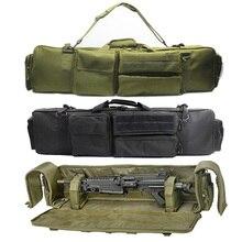 100cmMilitary Gun Bag plecak podwójny karabin torba Case dla SAW M249 M4A1 M16 AR15 Airsoft Carbine torba do przenoszenia Case pasek na ramię