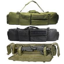 100cmmilitar saco de arma mochila rifle duplo caso para serra m249 m4a1 m16 ar15 airsoft carabina bolsa de transporte caso alça ombro