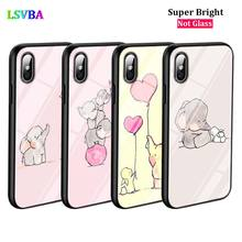 Black Cover Cute Elephant for iPhone X XR XS Max for iPhone 8 7 6 6S Plus 5S 5 SE Super Bright Glossy Phone Case m172 new writing cupcake tube high quality steel cake decorating tips pastry nozzles cake making tools