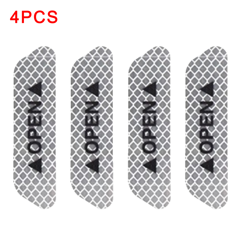 4PCS/Set Car Door Waterproof Reflective Strips Universal Reflective <font><b>Stickers</b></font> Decal Safety Reflective Tape Warning Mark <font><b>Bike</b></font> image