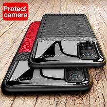 Leather Plexiglass Case For Xiaomi Mi 10T Pro 5G On Xiomi Poco X3 NFC Note 10 Lite 9 SE 9T 10 T Light Silicone Phone Cover Coque