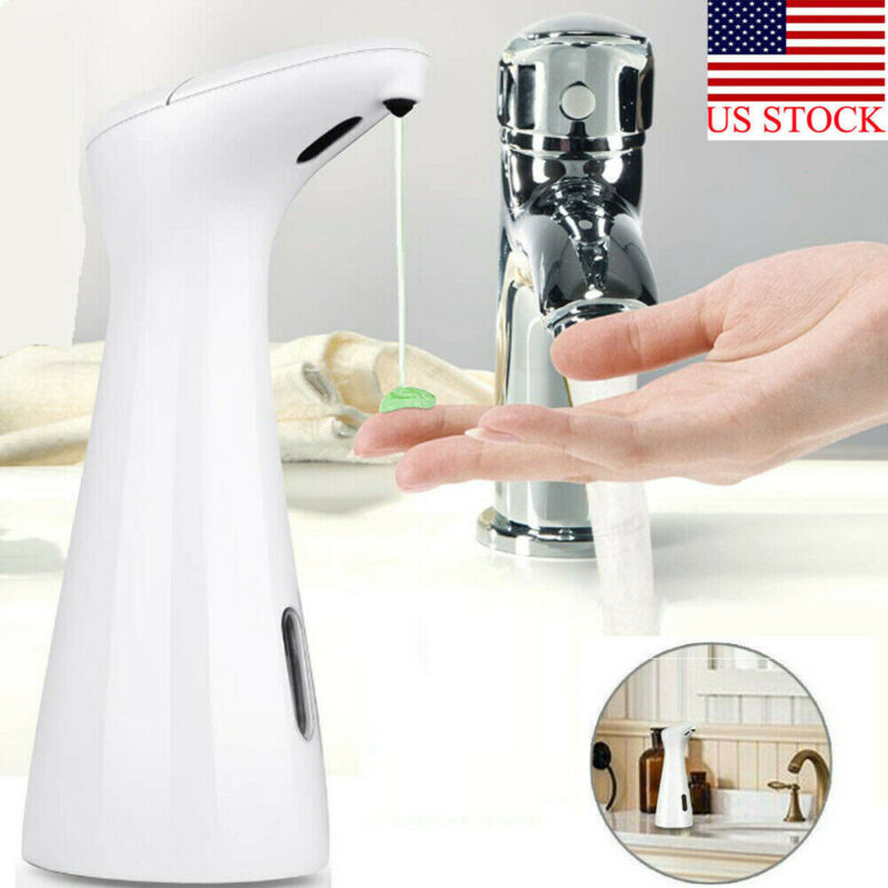 Waterproof and Washable 200ml Liquid Soap Dispensers with Smart Infrared Sensor for Kitchen and Bathroom Operated in Battery 1