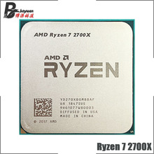 Amd ryzen 7 2700X R7 2700X 3.7 ghz 8 コアシックスティーンスレッド 16 メートル 105 ワットのcpuプロセッサYD270XBGM88AFソケットAM4