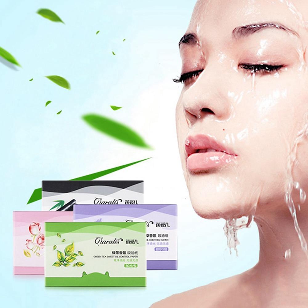80 sztuk/paczka przenośne Shrink Pore matujący Tissue narzędzia do makijażu twarzy czyszczenie kontrola oleju chłonne papieru Blotting arkuszy 4