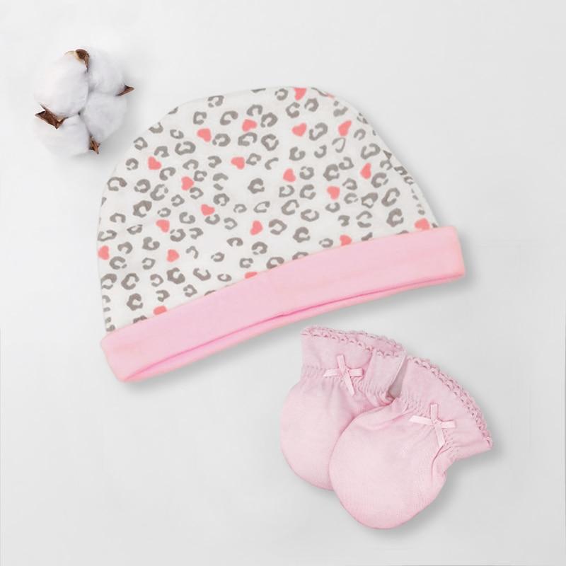 Осенне-зимние детские шапки и варежки для девочек и мальчиков, кепки, носки, удобные детские шапки и перчатки, хлопковые аксессуары для новорожденных детей 0-3 лет - Цвет: Белый