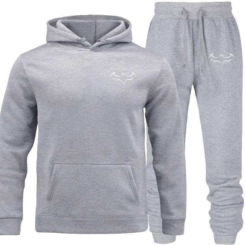 Pullover Tracksuit Men's Fashion Hoodies Set SuitsHit Color Mosaic Stars Sweater Sweatsuit Men Track Suit Set Men Clothes 2019
