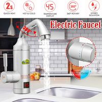 Instant Electric Faucet Tap 220V 250V 3000W LED Display Water Faucet heater Bathroom Kitchen Instant Hot Water Heating tap