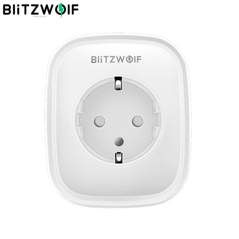 En Stock BlitzWolf BW-SHP5 2.1A Dual puertos USB 16A Smart WIFI enchufe UE trabajo con Alexa Google asistente BlitzWolf tuya APP