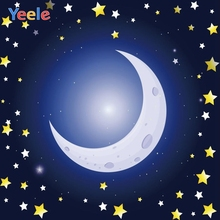 Yeele Cartoon Starry Sky Moon Backdrop Newborn Baby Shower Portrait Photography Background Photo Studio Photocall Photophone