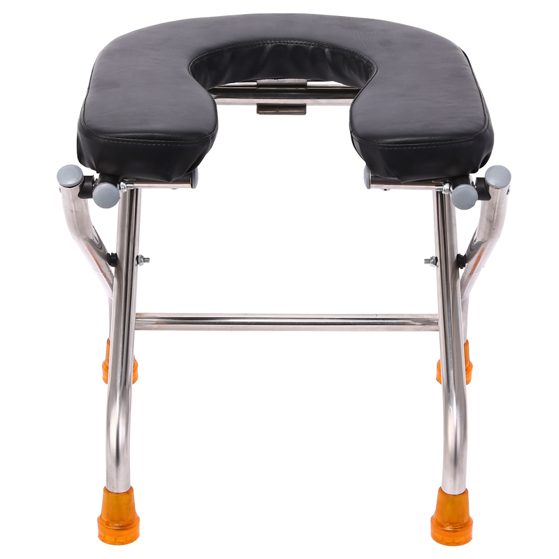 U Type Fold Sit Stool Stool Sit Toilet Chair The Elderly Sit Then Pregnant Woman Closestool Stainless Steel Sit Stool Stool