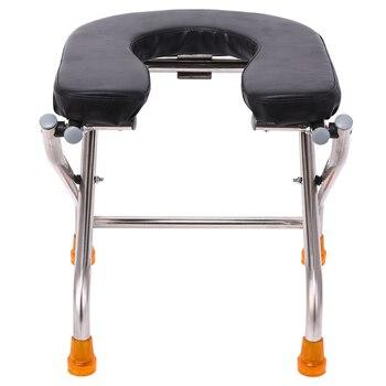 U Type Fold Sit Stool Stool Sit Toilet Chair The Elderly Sit Then Pregnant Woman Closestool Stainless Steel Sit Stool Stool фото