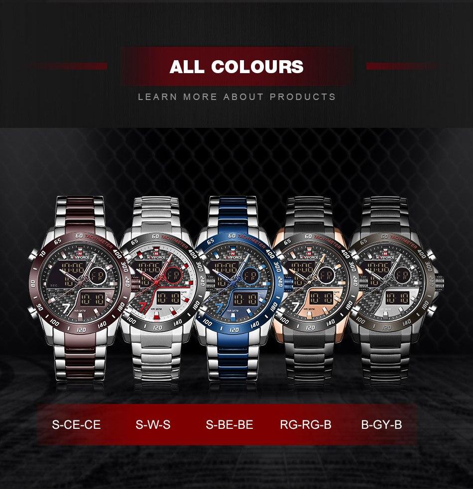 H2481e6d845854bec8a811fa936c7b17er NAVIFORCE Men Digital Watch LED Sport Military Mens Quartz Wristwatch Male Luminous Waterproof Clock Watches Relogio Masculino