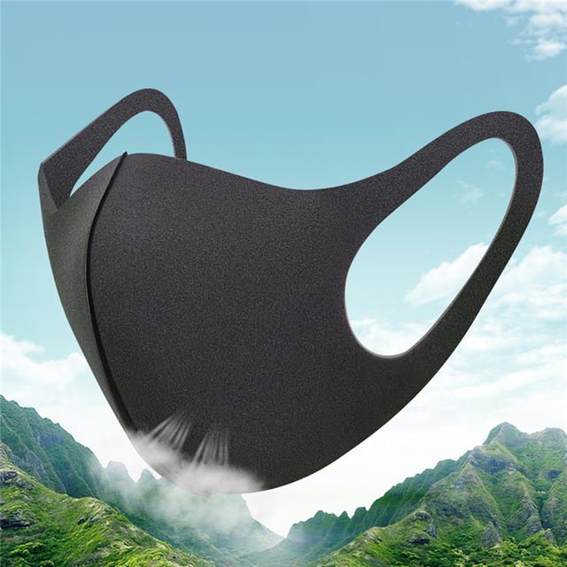 3PC Cotton Dustproof Face Mask Unisex Korean Style Outdoor  Cycling Anti-Dust Cotton Protective Cover Reusable Masks 1