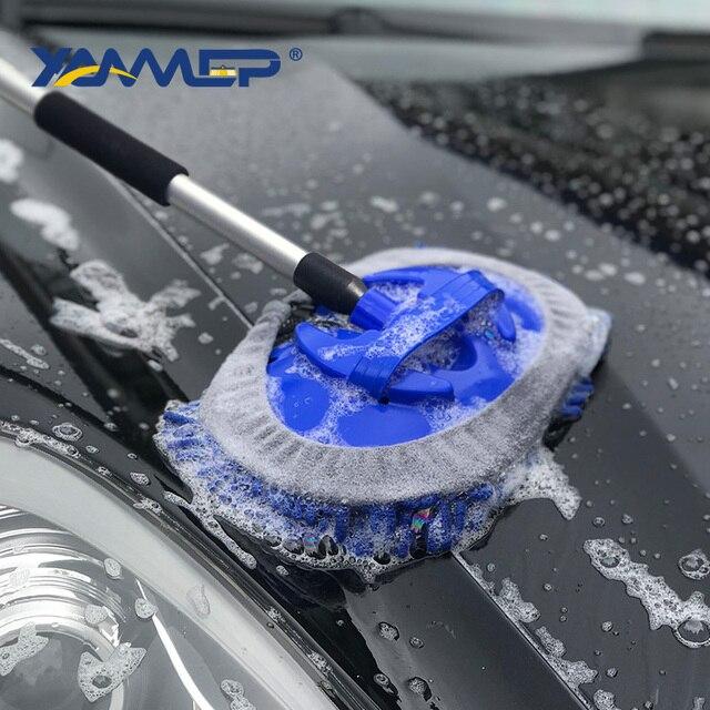 Szczotka do mycia samochodu przepływu wody czyścik samochodowy wymienne głowice opona do ciężarówki do czyszczenia uchwyt szczotki Windows przyrządy do czyszczenia samochodu Xammep