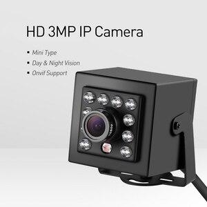 Image 3 - Cámara de seguridad IP para interiores, dispositivo pequeño de grabación de vídeo HD 1296P/1080P de 3 MP, H.265 y POE con visión nocturna IR y 10 LED, sistema de videovigilancia P2P CCTV