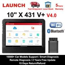"Starten X431 V plus 10 ""X431 V + V 4,0 OBD2 Diagnose Scanner Automotive OBD Auto Diagnose Werkzeug Auto OBD2 Scanner Auto diagnose"
