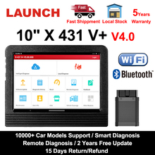 """런처 X431 V 플러스 10"""" X431 V+ V4.0 OBD2 자동차 진단 스캐너, OBD 오토 진단 툴, 자동차 OBD2 스캐너, 차량 진단기"""