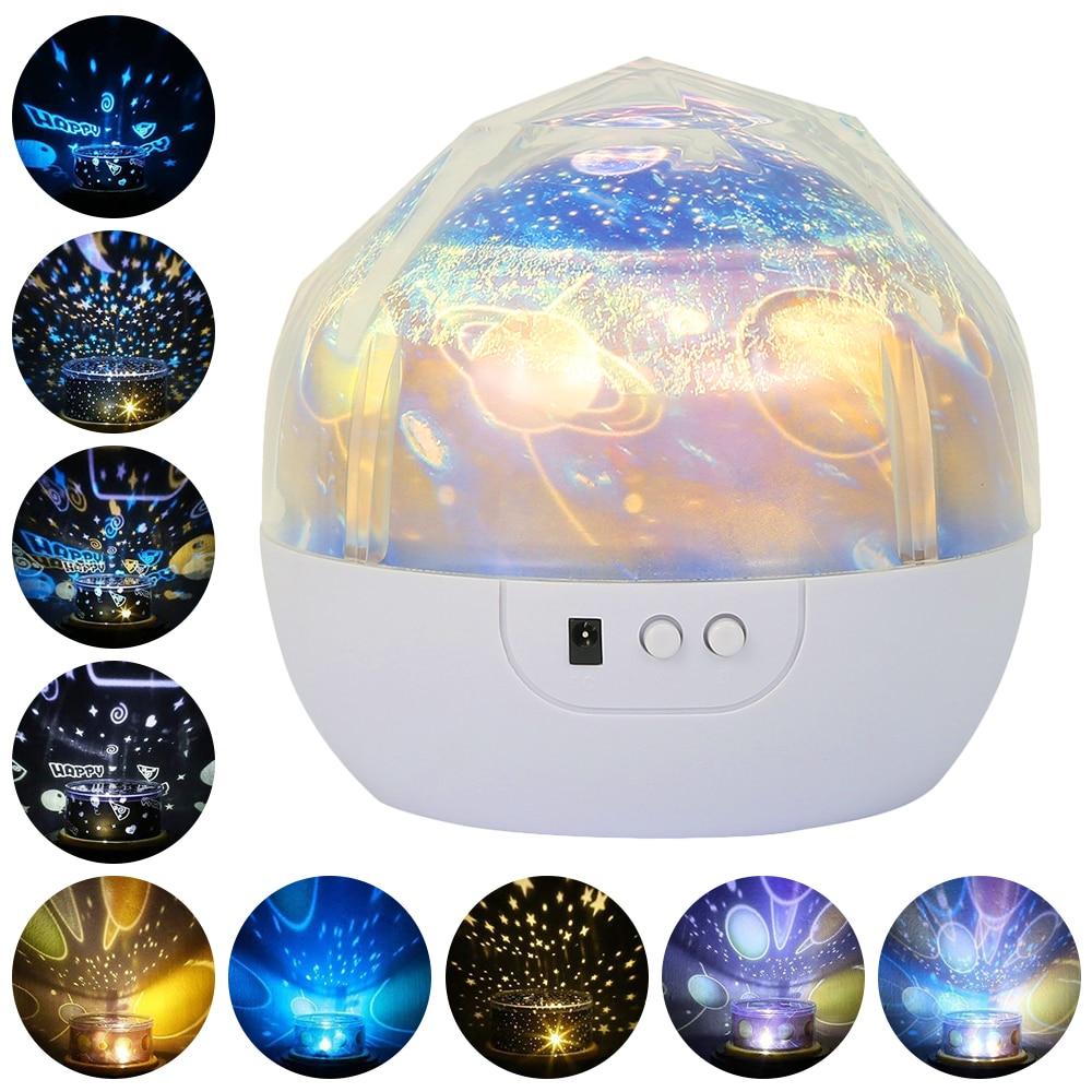 Starry Sky Night Light Planet Magic Projector Earth Universe LED Lamp Projector Lamp Night Light Moon Sea World Decor (Blue White)